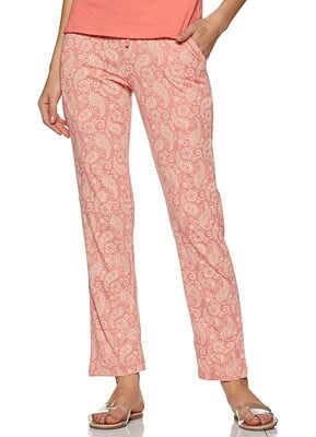 Van Heusen Athleisure Women's 55307 Printed Pyjama with Pocket (Pink)